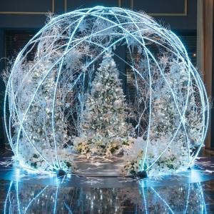 クリスマス・イルミネーション2019「スノードーム」が登場。